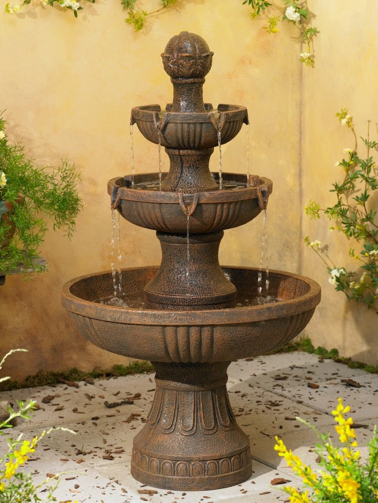 amazoncom ravenna italian 43 high fountain by john timberland free standing garden fountains garden outdoor - Garden Fountains