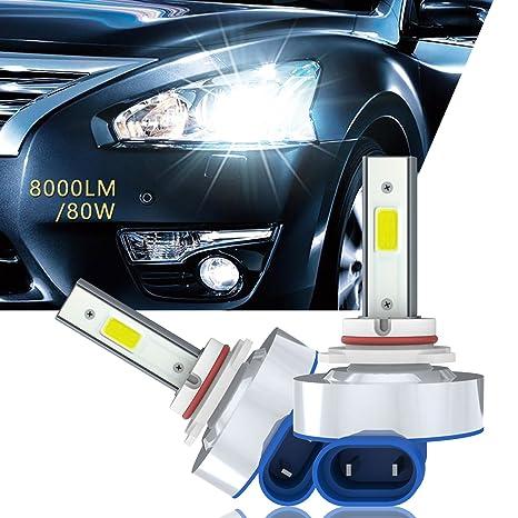 Aokairuisi® Bombillas LED para faros delanteros de coche con chips de 8000 lm y 6500