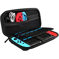 Soyan Carrying Case for Nintendo Switch w/ Game Card Holders & Carry Handle (Black)