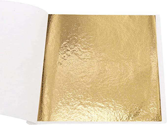 Amazon.com: Imitation Gold Foil Sheets - KINNO B Gold Leaf Paper for Furniture, Arts Decoration, Handcrafts, Picture Frames, Gilding, Nails, Paintings, Slime, Wall, Line, DIY, 100 Sheets 3.15 by 3.35 Inches: Toys & Games