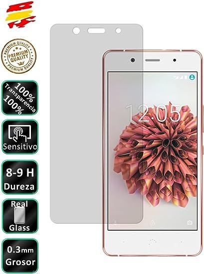 Movilrey Protector para BQ Aquaris X5 Plus Cristal Templado de ...