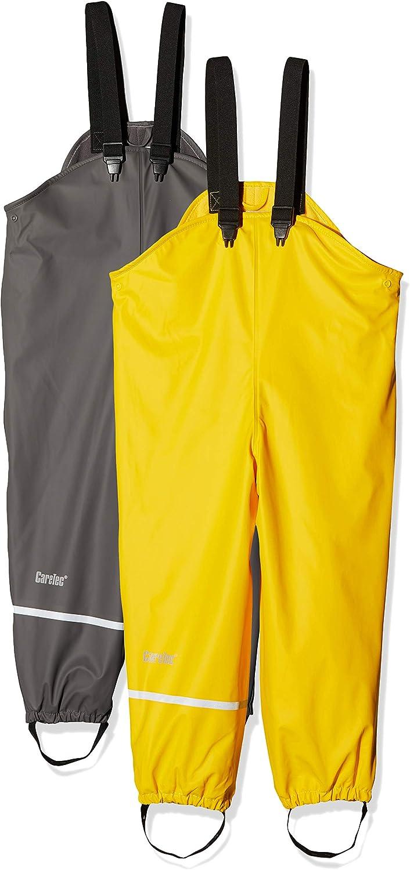 CareTec Kids Rainpaints with Fleece Lining 2-Pack, 92 Grey 1740