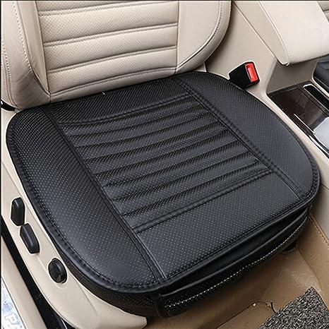 Cojines de asiento de coche Cubiertas de asiento de coche de bambú del carbón de leña con el cojín interior del asiento de cuero de la PU Por ...