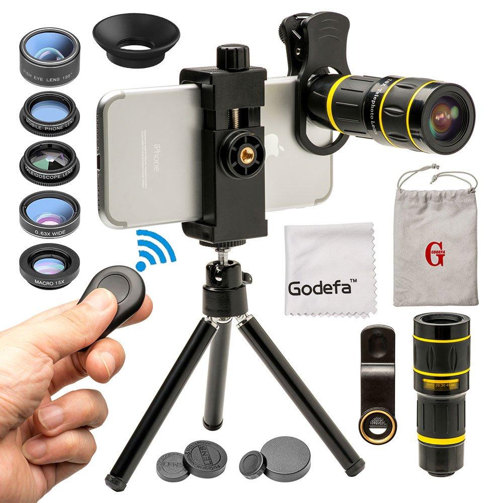 6 Lentes Para Celular Con Tripode iPhone, Samsung, LG (xmp)