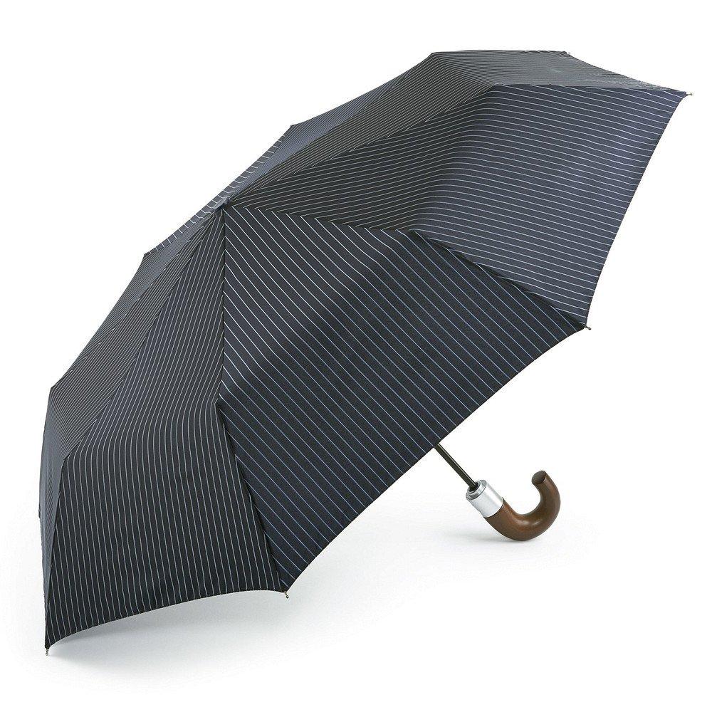 Fulton Chelsea Two Unisex Adult Umbrella City Stripe Navy/Cloud One Size