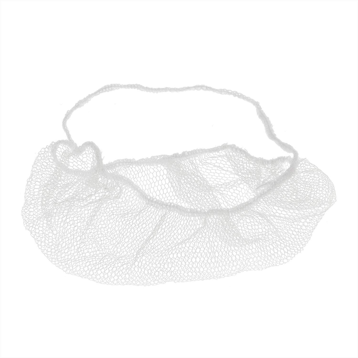 ABC 100 Pack of Disposable Soft Nylon Beard Covers 18''. White beard guards. Premium Quality beard net protectors. Honeycomb beard nets. Facial hair covering. Breathable & Lightweight. Wholesale. by ABC Pack & Supply