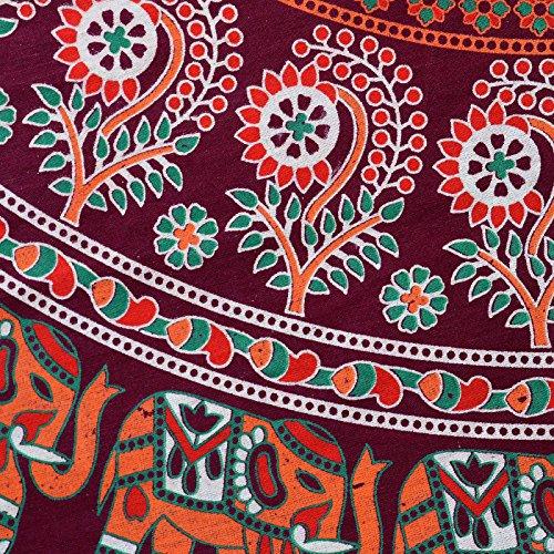 Marrone Abito Vestito D4 Lungo Donne Rajasthani Kurti Sttoffa t4fqx1Ww0c