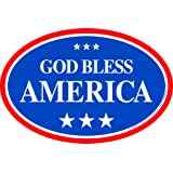 White God Bless The USA Red and Blue Ribbon Magnet