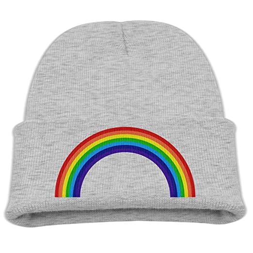 79b90bc6a4754 Rainbow Kids Boys Girls Knit Cute Cuff Baggy Hip-hop Slouchy Hat Children  Basic Beanie