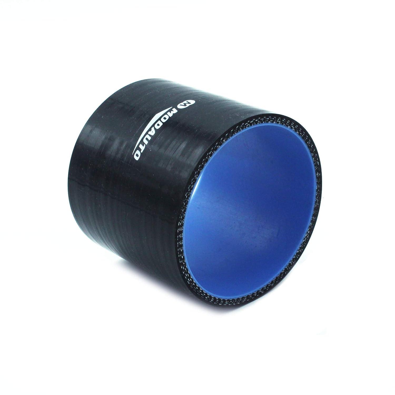 Alto Rendimiento Universal MODAUTO Manguera de Silicona Acoplador 3//4 capas Diametro 57mm Tubo de Silicona Recto Modelo E354B