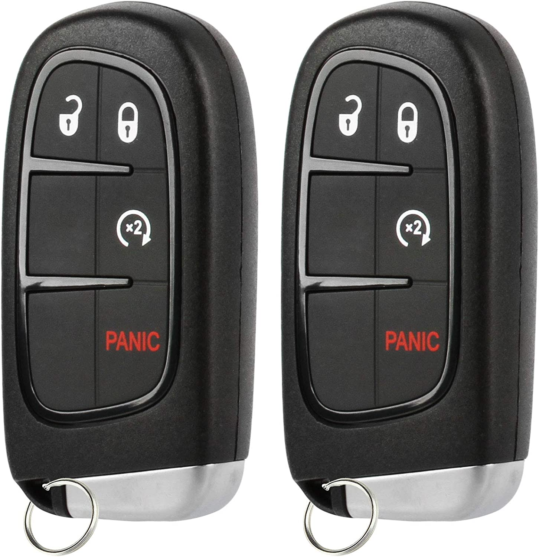 GQ4-54T 2 Key fits 2014 2015 2016 2017 2018 2019 Jeep Cherokee Smart Keyless Entry Fob Remote