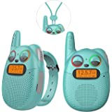 FRS Walkie Talkies with FM, Wearable & Rechargeable Walkie Talkies for Kids, up to 2 Miles Kids Walkie Talkies for…