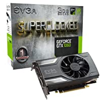 EVGA GeForce GTX 1060 3GB SC GAMING, ACX 2.0 (Single Fan), 3GB GDDR5, DX12 OSD Support (PXOC), Only 6.8 Inches Graphics Cards 03G-P4-6162-KR