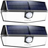 LITOM Solar Lights Outdoor,120 LED Solar Motion Lights with 3 Modes, 270°Wide Angle, IP67 Waterproof, Easy-to-Install Security Lights for Front Door, Yard,Garage, Deck, Fence-2 Pack