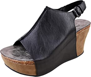 Pierre Dumas Hester-14 Womens Platform Wedge Open Toe Sandals