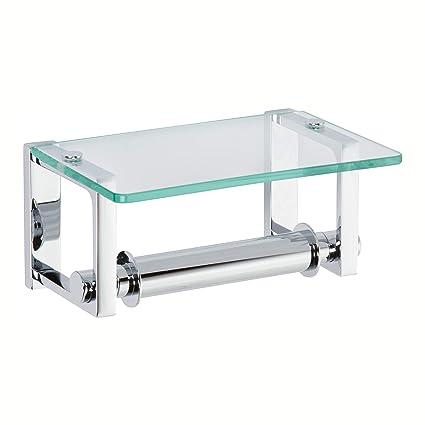 Ginger 3027pc Frame Tp Holder Wglass Shelf Polished Chrome