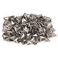 BQLZR Silver 12mm Punk Triangle Pyramid Studs Beads Spots Nailheads Spikes Rivet For Leather Craft Pack of 200