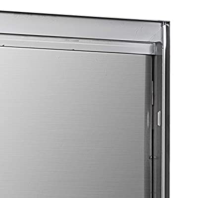 """17/""""Wx24/""""H BBQ Single Island Door Outdoor Kitchen Polished Stainless Steel Drawer"""