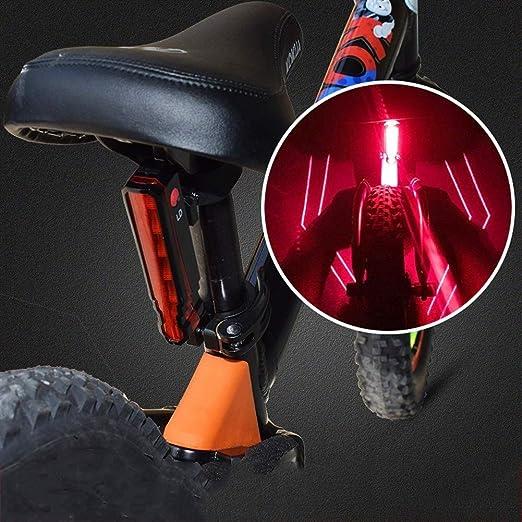 NJDHAS Cola luz de la Bici 3 Modos de araña Trasera LED luz ...