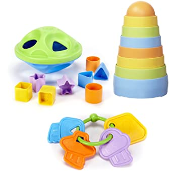 Amazon.com: Green Toys forma clasificador con apilador y ...