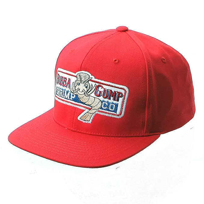 Amazon.com: Bubba Gump Shrimp Co. Hat Forrest Gump Costume Embroidered Snapback Red Cap Hat: Clothing