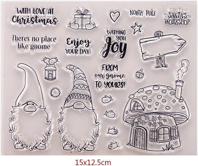 Exing Sellos Scrapbooking Clear Stamp,Sello De Sello De Goma De Silicona Transparente para álbum De DIY Scrapbooking Tarjeta Foto Decoración: Amazon.es: Hogar