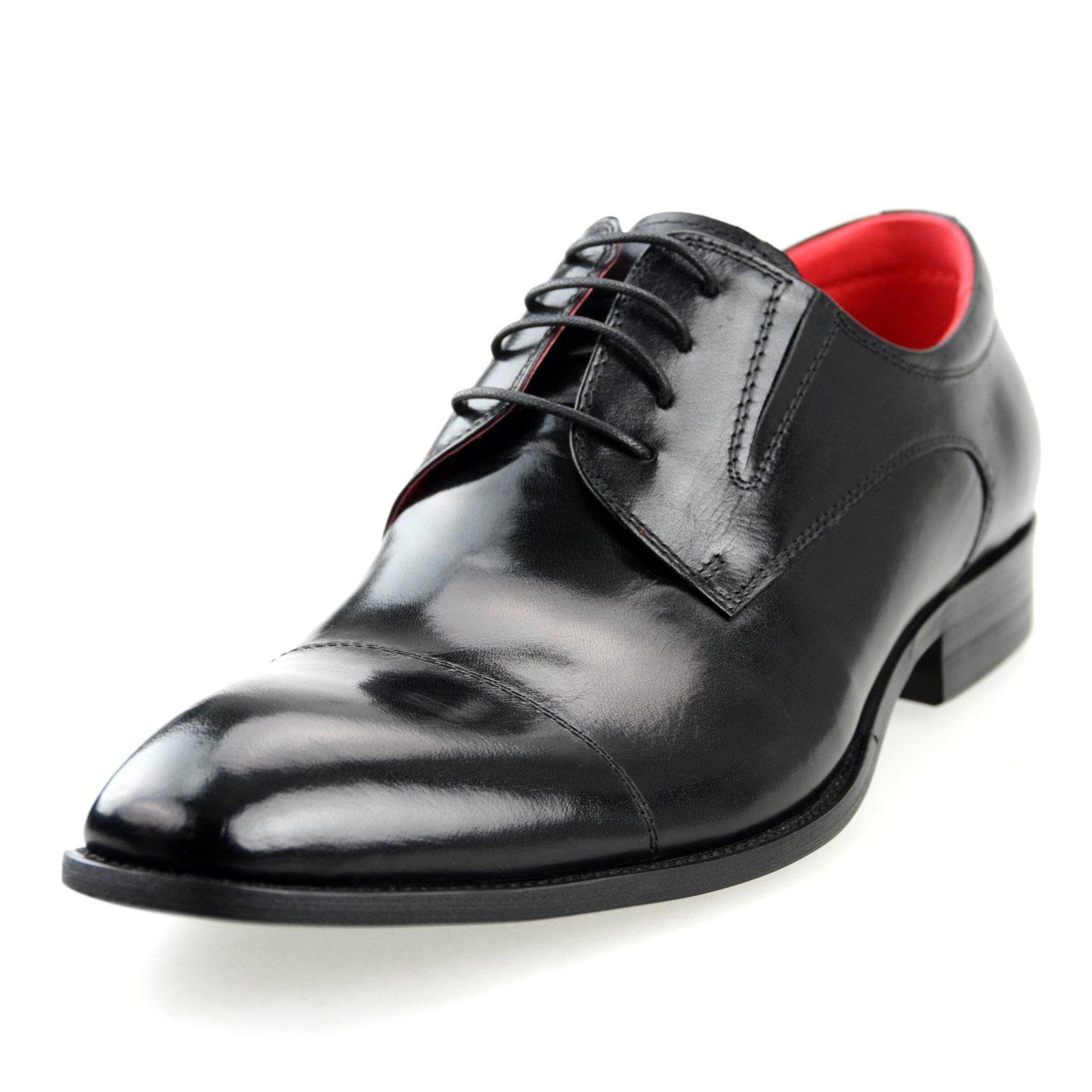 [ルシウス] LUCIUS メンズ ビジネスシューズ 本革 メンズ ビジネスシューズ 皮靴 メンズロングノーズ レースアップ ドレスシューズ 外羽根 ストレートチップ サイドゴア 短靴 ローカット 【LLT700WZ-1 ブラック ブラウン ネイビー ワイン】 B01KWX2DC2 25.0 cm 3E|ブラック ブラック 25.0 cm 3E