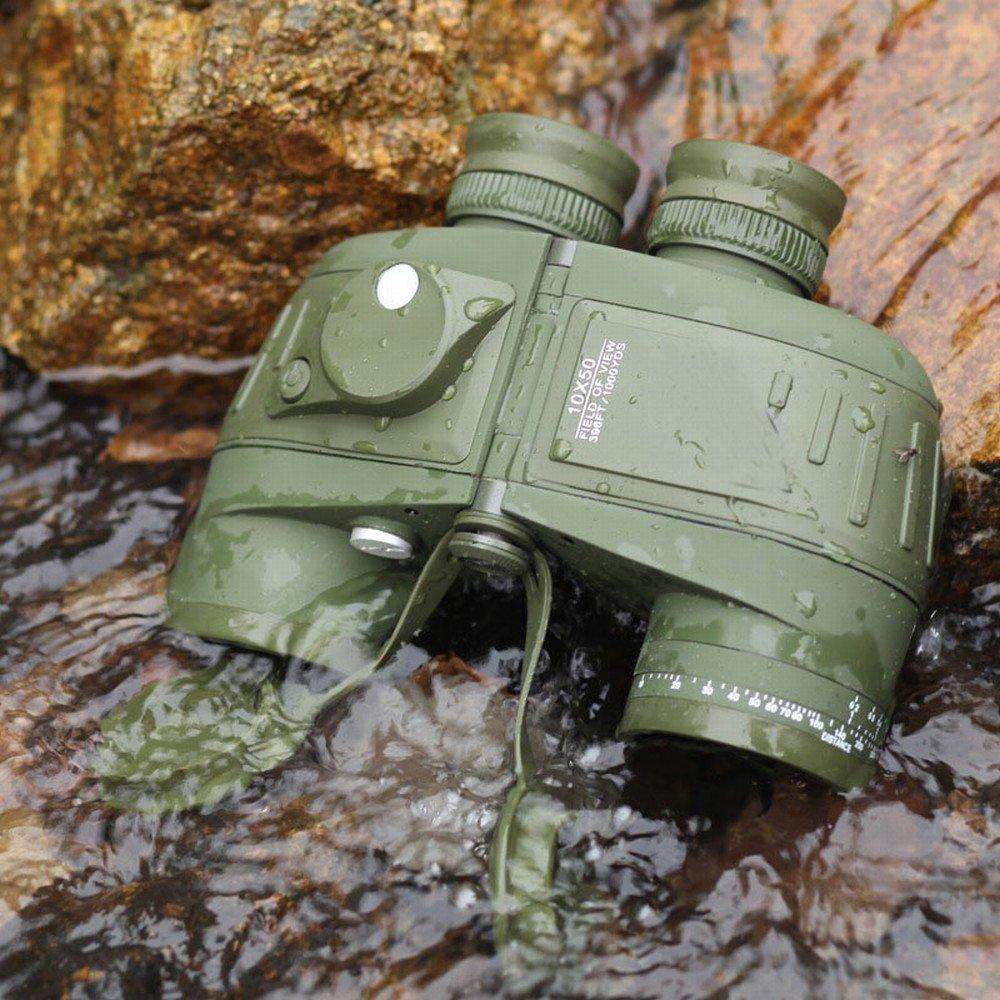 CWJ Jumelles Marine 10X50 Compass étanche Hdx Coordonnée Télémètre Glow UNE -