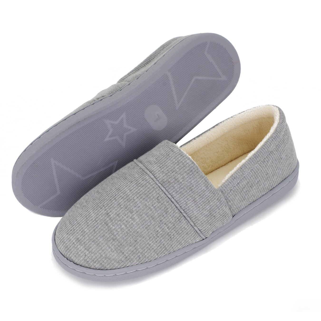 Moodeng Cotton Slippers for Women Knit Anti-Slip Lightweight Soft Comfort House Slippers Slip-on Velvety Home Shoes by Moodeng (Image #3)