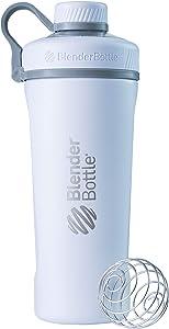 BlenderBottle Radian Insulated Stainless Steel Shaker Bottle, 26- Ounce, Matte White