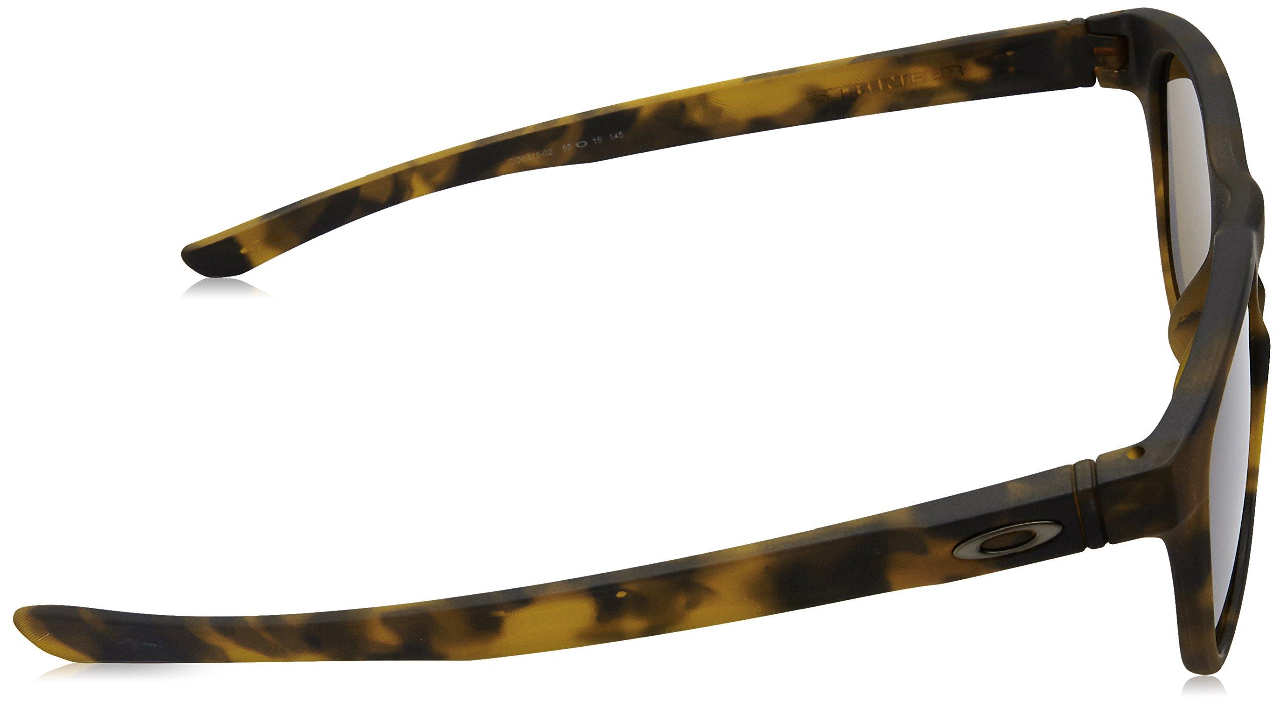 Oakley Men's Stringer Rectangular Sunglasses Matte Brown Tort w/Dark Bronze 55 mm by Oakley (Image #3)