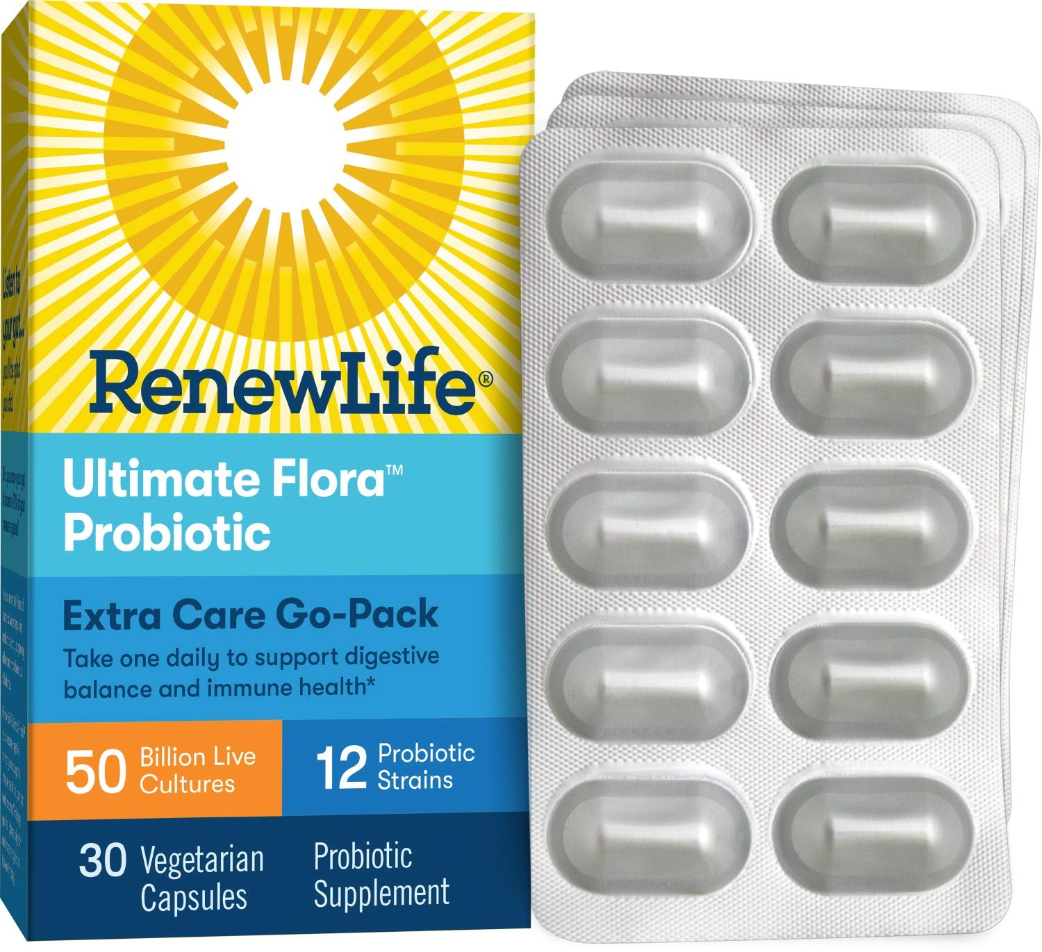 Renew Life Adult Probiotic Ultimate Flora Extra Care Go