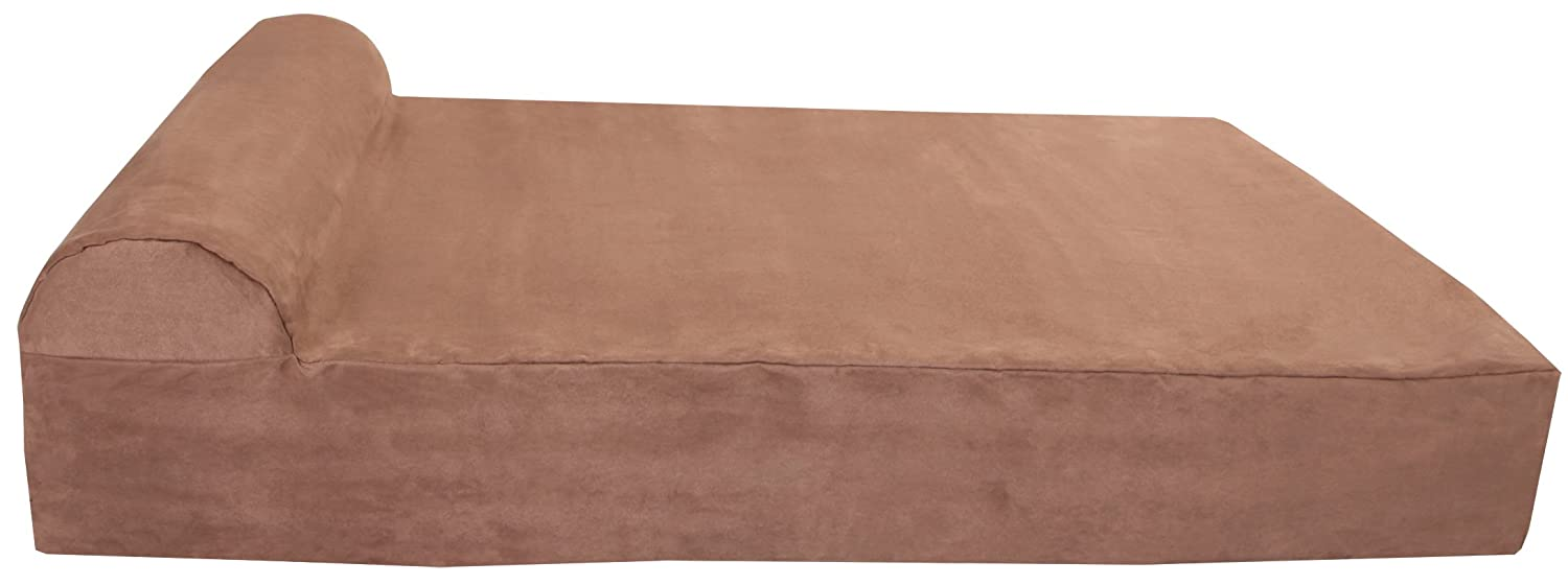 amazoncom big barker 7inch pillow top orthopedic large 48 x 30 x 7inch bed for dogs khaki pet beds pet supplies