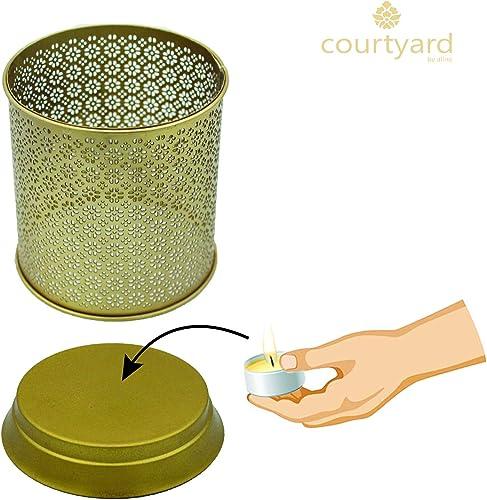 Courtyard Ornamental Lattice Moroccan Tea Light Holder