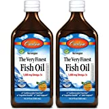 Carlson - The Very Finest Fish Oil, 1600 mg Omega-3s, Liquid Fish Oil Supplement, Norwegian Fish Oil, Wild-Caught…