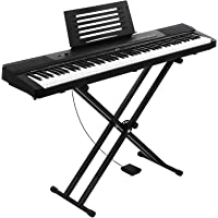 ALPHA Keyboard Piano 88-key Electric Sensitive Touch Full-sized w/ Adjustable Stand & Music Sheet Holder Kids Adult…