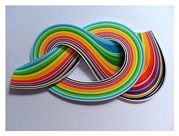 Quilling Papierstreifen 2 Mm 175 Stück Sommerfarben Amazonde