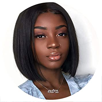 Short Lace Front Human Hair Wigs Brazilian Straight Bob Wigs Pre Plucked Hairline Natural Wigs For Black Women Alipearl Hair Wig Lace Wigs Hair Extensions & Wigs