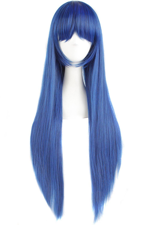 Peluca azul mujer pelo largo