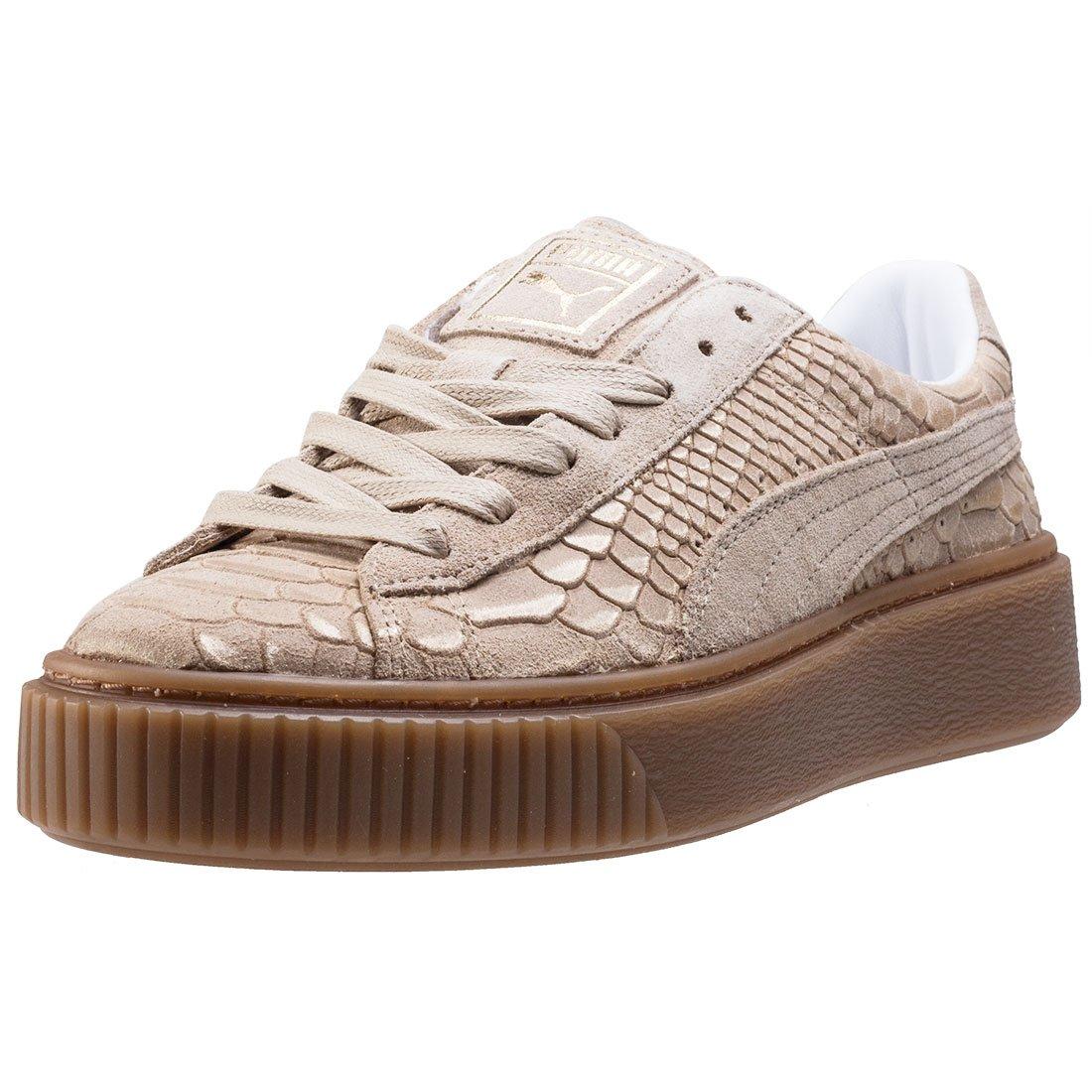 Puma Basket Platform Exotic Skin 36337702, Turnschuhe  37.5 EU|Sand