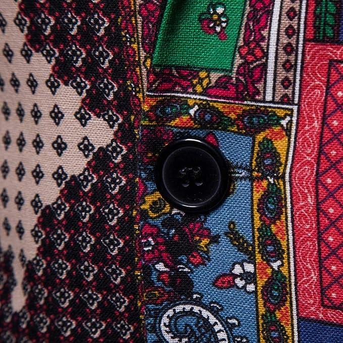 Mens Fashion Ethnic Style African Print Dashiki Jacket Coat Casual Business Blazer at Amazon Mens Clothing store: