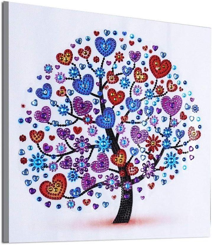 WOBANG DIY Diamant Pintura 5d Diamond Painting Completo árbol pájaro y niñas Modelo handgemachtes Klebebild con Digital Sets Bella Stickerei Pintura Kreuzstich Wanddekoration: Amazon.es: Juguetes y juegos
