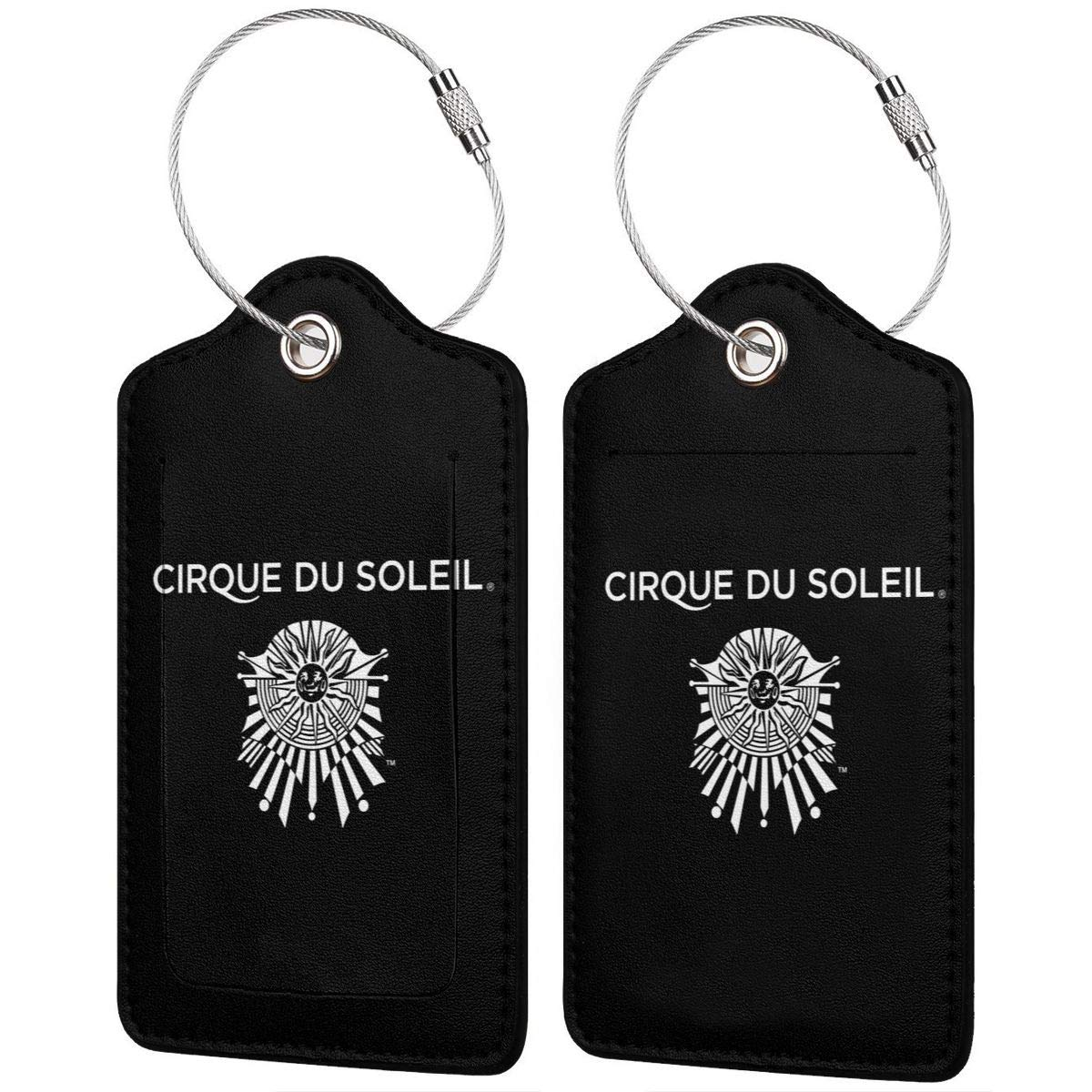 Cirque Du Soleil Leather Luggage Tag Travel ID Label For Baggage Suitcase