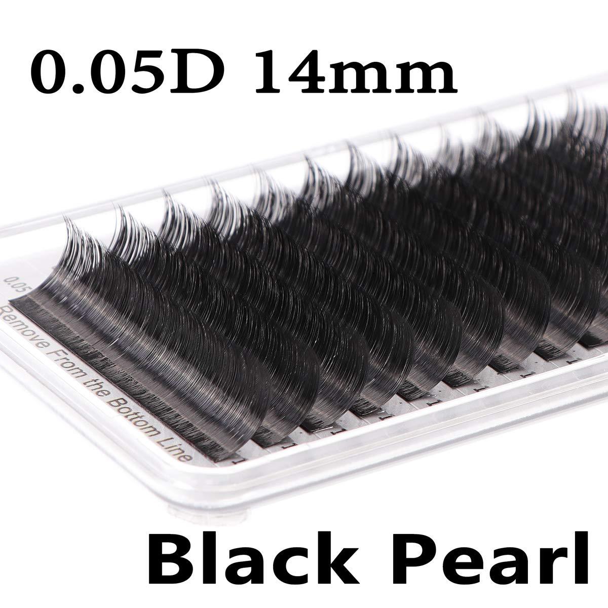 a3d2c58d9e2 Amazon.com : 0.15D Mix16-18mm Black Pearl Lash Extensions (Premium Black  Individual Eyelash) : Beauty