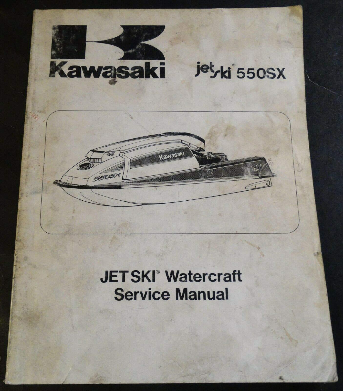 1990 Kawasaki Jet Ski 550sx P N 99924 1120 01 Service Manual 726 Kawasaki Amazon Com Books
