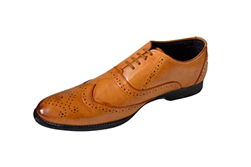 KIDS//BOYS Synthetic Leather Tan Brown Brogue Two Tone-Perfect for all Occasions