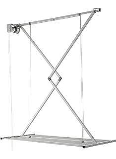 foxydry Wall Tendedero de Pared Vertical, Tendedero Vertical con Deslizamiento Manual en Aluminio y Acero (Gris, 150): Amazon.es: Hogar