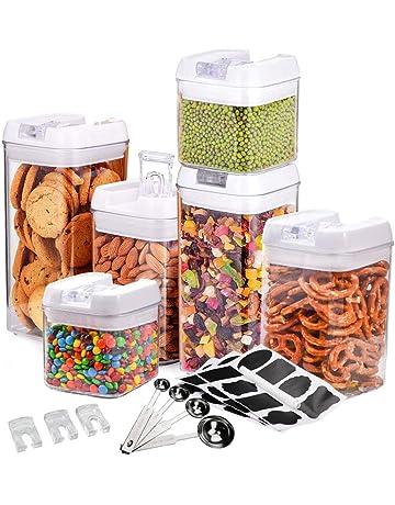 MAIKEHIGH - Juego de 6 recipientes herméticos para almacenamiento de alimentos con 24 etiquetas de pizarra