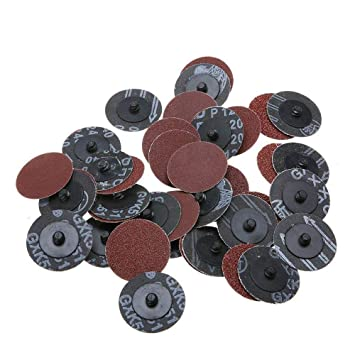 40pcs 2/'/' 50mm Type R Roloc Sanding Discs Abrasive Roll Lock 40//80//120//240 Grit