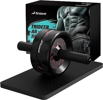 Frauen /& Männer Amonax Sport Bauchroller für Bauchmuskeln mit Fitnessmatte